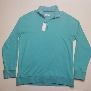 Southern Tide Teal XL 1/4 Zip Sweater NEW W/ TAG